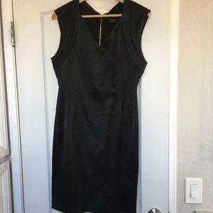 Zara velvet black dress with gold zipper